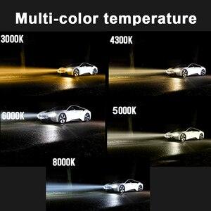 Image 2 - PAUNDUK bombilla de luz antiniebla para coche, minifaro LED Canbus H4 H7 ZES 4300K 6000K 8000K 16000LM 12V 24V H3 H1 9005 9006 HB4 H11