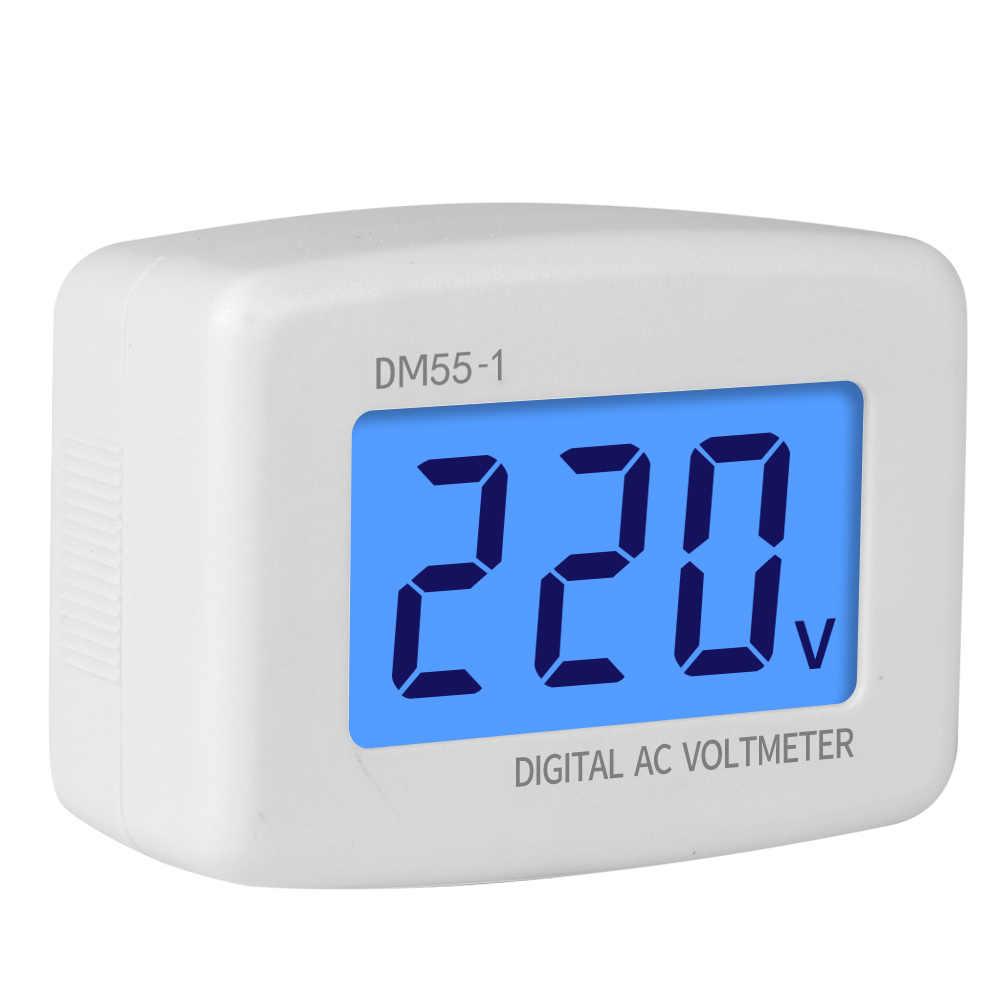 Voltmètre numérique ca 80-300V ue prise US AU voltmètre prise testeur de tension LCD affichage tension mètre 110V 220V DM55-1