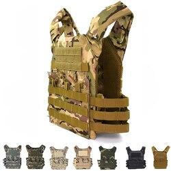 อุปกรณ์ยุทธวิธี JPC MOLLE Vest Airsoft Paintball การล่าสัตว์เสื้อกั๊ก Carrier Vest เกียร์ทหารเกราะ