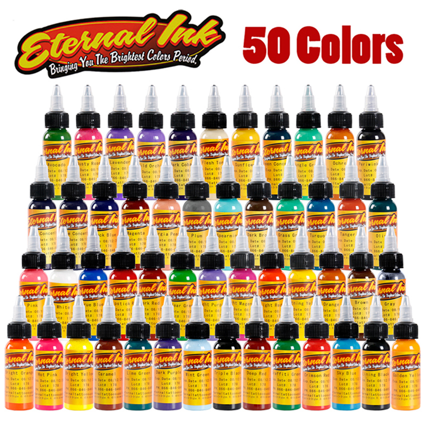 Permanent Tattoo BAODELI Tattoo Ink Set 50 Colors Set 1oz/30ml