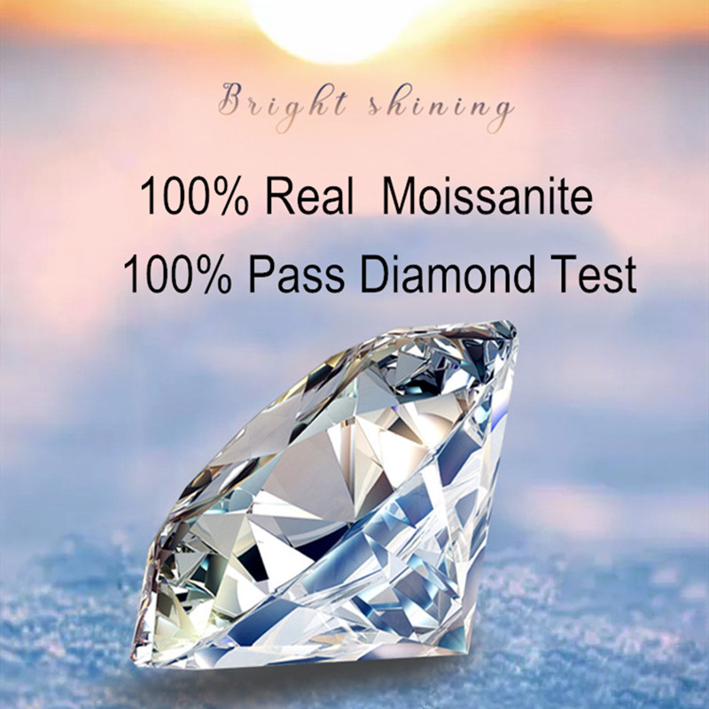 Image 5 - Geoki New Popular 1 ct Passed Diamond Test Moissanite Ring 925 Sterling Silver Perfect Cut Excellent D Color Gem Engagement RingRings   -