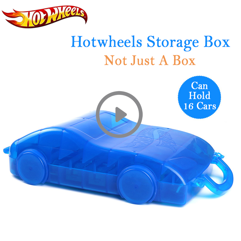 Hot Wheels Car Model Storage Box Holds 16 Piece Hotwheels Cars Toy Parking Lot Portable Two-Way Folding Models Movable Wheels
