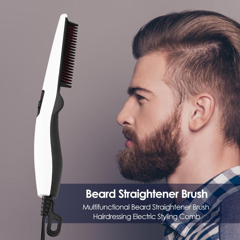 Multifunctional Hair Comb Brush Beard Straightener Straighten Brush Hairdressing Electric Hair Styler Comb For Men Styling Tool