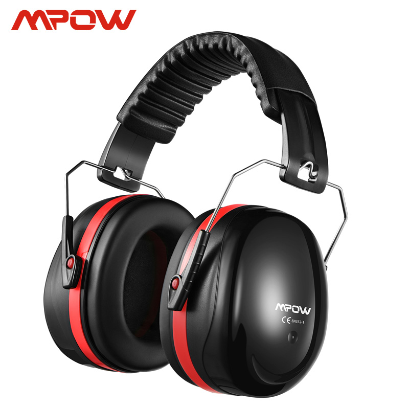 Mpow SNR 34dB Noise Reduction Safety Ear Muffs Hearing Protection Soft Foam With Carrying Bag For Kids Adults Shooting Worker