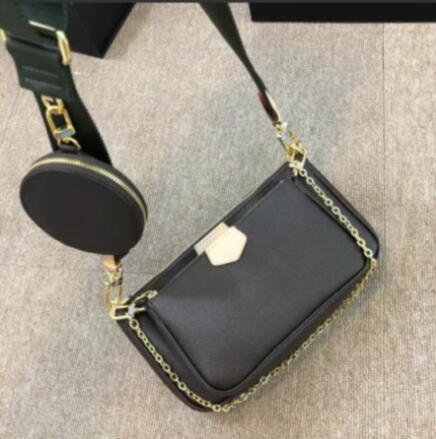 Hot Selling !!! 2020 new fashion mahjong bag crossbody shoulder bag 3 in 1 luxury handbag leather women handbag