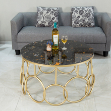Nordic luxury marble coffee table center table living room Small apartment round table size 80X45cm gramercy стол leslie center table