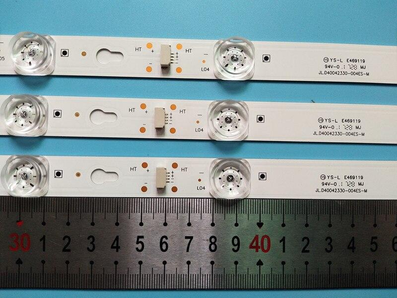 Novo Kit 6 PCS 8LED 69 centímetros retroiluminação tira LEVOU parágrafo L40F3301B L40P-F 40D2900 40HR330M08A6 V8 L40E5800A L40F33 4C-LB