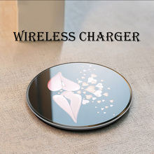 10W wireless charger for iphone X/8 plus charge For Samsung Galaxy S9/S9 Plus Note 8/5 S8 Plus S7/S6 charging pad QI