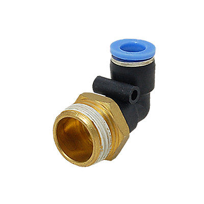 8 x 20mm Elbow Push In Fitting One Touch Male Fittings Connectors     - title=