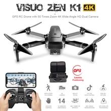 лучшая цена Visuo Zen K1 5g Wifi Fpv Gps 4k 720p Hd Dual Camera 90 Degrees Wide Angle Foldable Rc Drone Quadcopter Vs Xs809hw Sg106 H37 M69