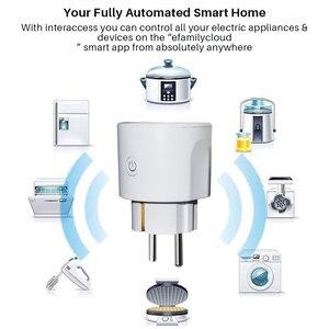 Image 2 - Smart Power Plug WiFi 16A UE Intelligente Presa Timing Tuya APP di Controllo Remoto di Controllo Vocale Funziona Con Alexa Google Casa mini