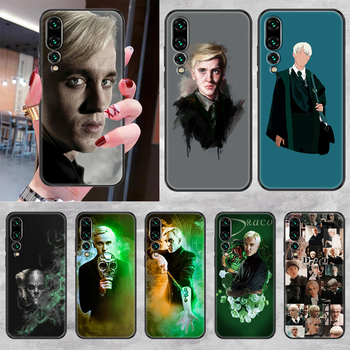 Draco Malfoy Phone case For Huawei P Mate P10 P20 P30 P40 10 20 Smart Z Pro Lite 2019 black painting funda fashion shell art image