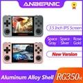 NEUE ANBERNIC Retro spiel RG350 Video spiele Upgrade spielkonsole ps1 spiel 64bit opendingux 3,5 zoll 2500 + spiele RG350m kind geschenk