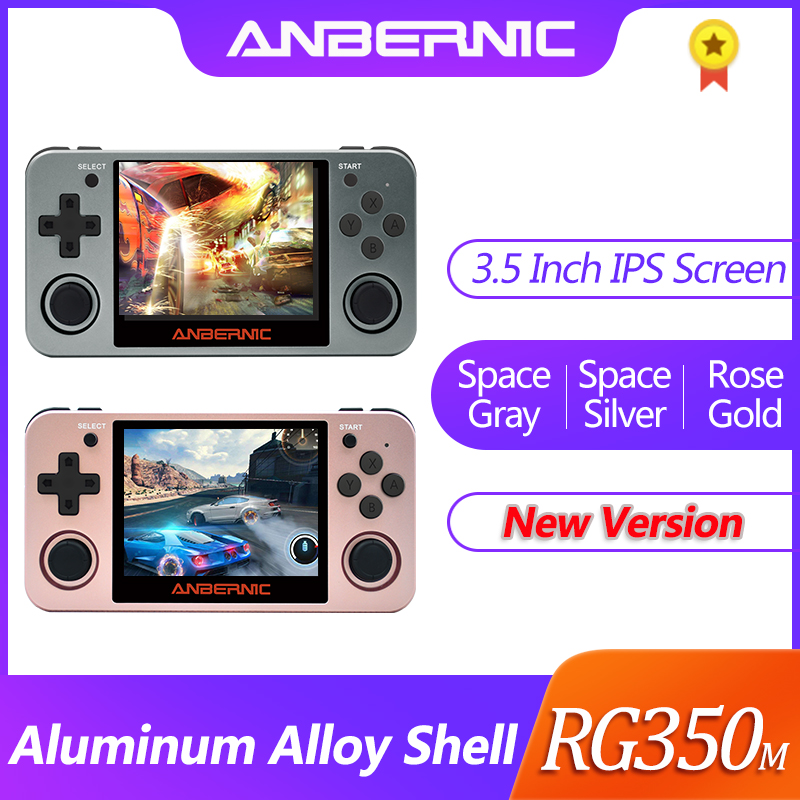 NEW ANBERNIC Retro game RG350 Video games Upgrade game console ps1 game 64bit opendingux 3.5 inch 2500+ games RG350m Child gift