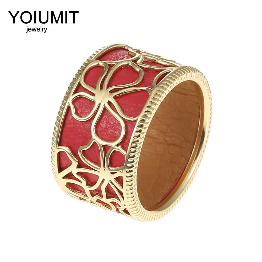 Cremo Georgettes Rings Cocktail Bague Cremo Giraffe Rings Women Interchangeable Cuir Hollow Leather Ring Elegant Bijoux Femme