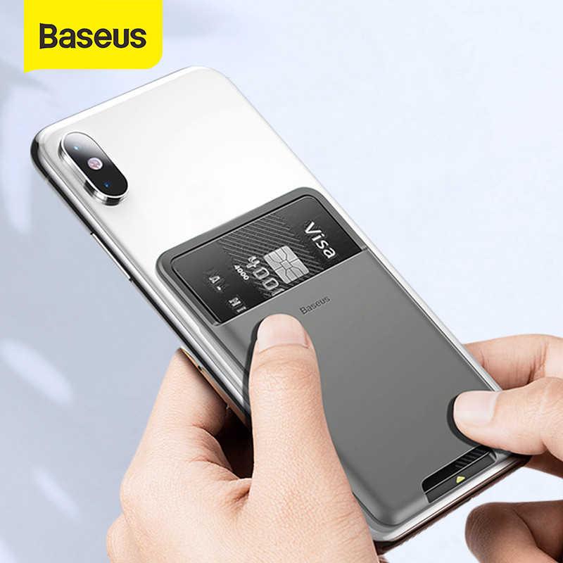 Baseus универсальный чехол для телефона чехол-бумажник с карманами для карт чехол для iPhone 11Pro X XS Max XR Чехол класса люкс с клеящим веществом 3м-чехол для телефона из силикона и креплением на поясной ремень