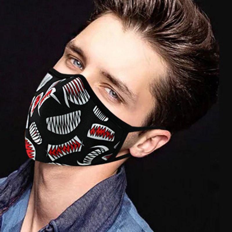 Unisex Anti Pollution Dust Mask Colorful Graffiti Washable PM2.5 Face Respirator
