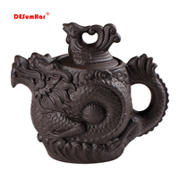 Heißer verkauf Lila ton teekanne  Traditionelle Chinesische Tee topf Drache und Phoenix Tee wasserkocher Premium tee  lila ton kungfu tee set-in Teekannen aus Heim und Garten bei