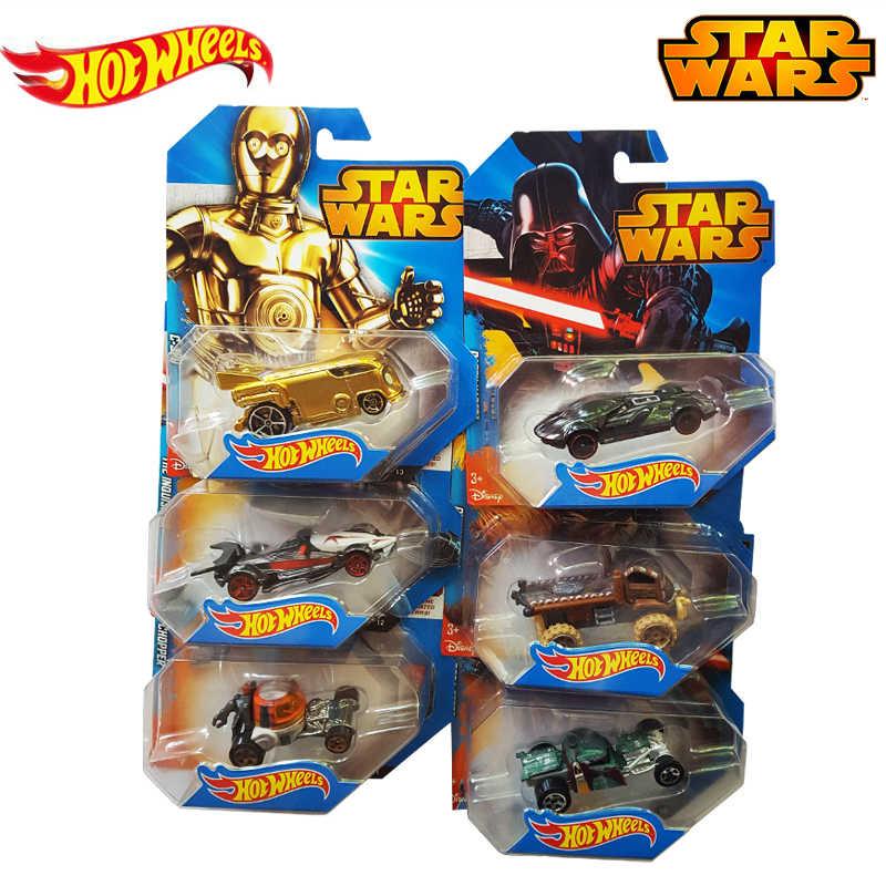 Echte Hot Wielen Star Wars Serie Rol Master Yoda Track Vehical Auto Speelgoed van Jongen Kinderen Kerstcadeaus CWG35