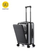 NINETYGO 90FUN, 20 дюймов, на колесиках, для переноски багажа, открывающаяся кабина, чемодан для путешествий, вращающееся колесо, устойчивое к царапинам, регулируемое