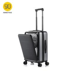 NINETYGO 90FUN 20 ''Roll Hardside Carry-ons Gepäck Öffnung Kabine Reise Koffer Spinner Rad Scratch-proof Einstellbare