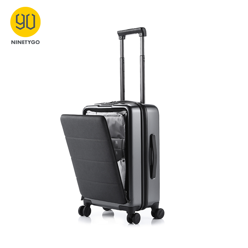 NINETYGO 90FUN 20'' Rolling Hardside Carry-ons Luggage Opening Cabin Travel Suitcase Spinner Wheel Scratch-proof Adjustable