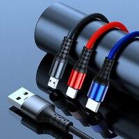 3 In 1 Schnelle Ladegerät Kabel Für Samsung Xiaomi Poco SmartPhone Tablet Micro USB Typ C Daten Transfer Handy lade Draht