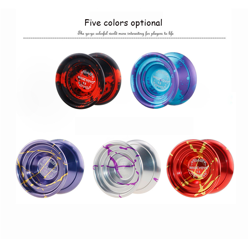MAGIC YOYO 59.51mm large diameter leopard head alloy professional competition fancy yo-yo children classic toys