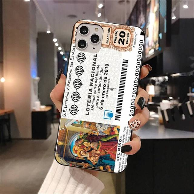 El Gordo Spanish Christmas Lottery Phone Case For Iphone 12 Pro Max 11 Pro Xs Max 8 7 6 6s Plus X 5s Se 2020 Xr Case Phone Case Covers Aliexpress