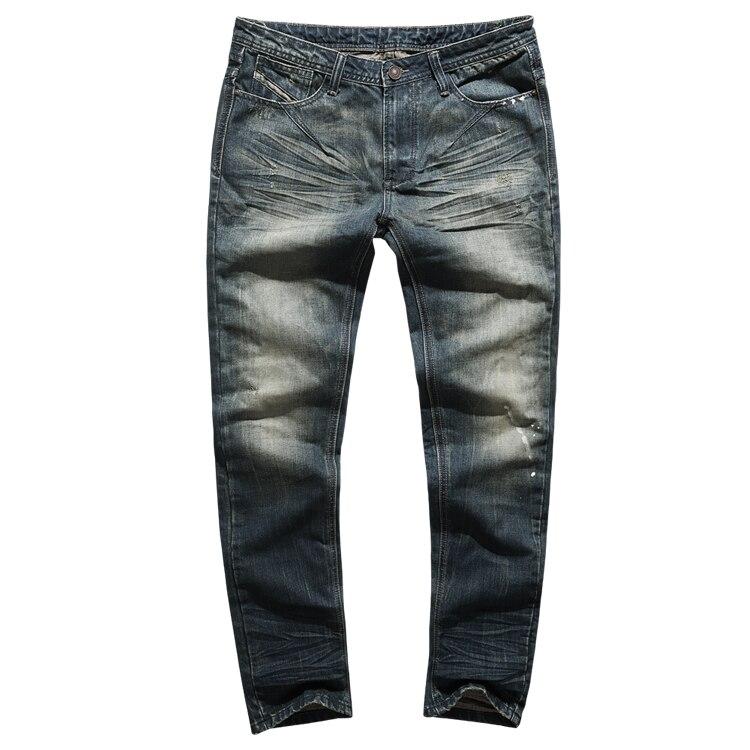 Brand Denim Biker Jeans Men Slim Fit Washed Vintage Ripped Jeans For Men Elastic Denim Pants Skinny Jeans Men K797