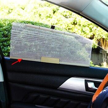 1PCS רכב משאית רשת שמשייה לשליפה צד חלון צל שמש חומת Visor קיץ אוטומטי כיסוי רול וילון Visor