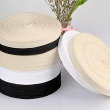1 rolo 6-40mm largura 100% algodão chevron fita espinha de peixe fita webbing costura overlock pano cinta cinto diy acessórios