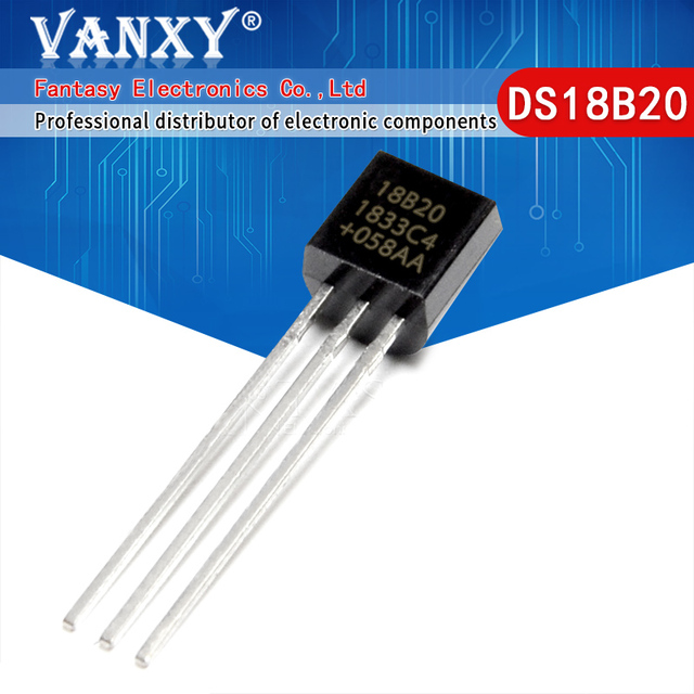 100pcs DS18B20 18B20 18S20 TO 92 IC CHIP Thermometer Temperature Sensor
