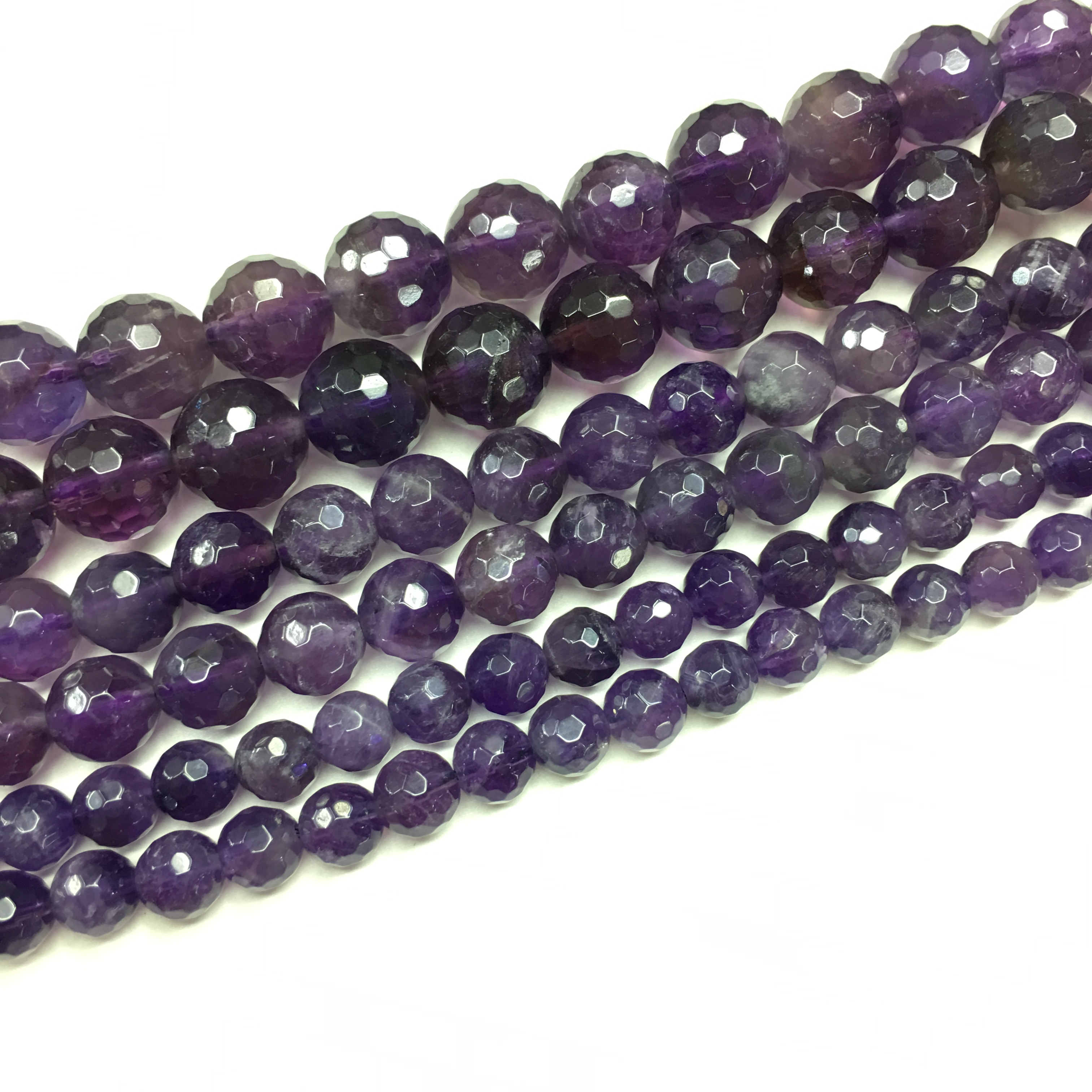 "Amatista Púrpura Facetado Rondelle 4x6mm Natural Piedras Preciosas suelta granos 15/"" AAA"