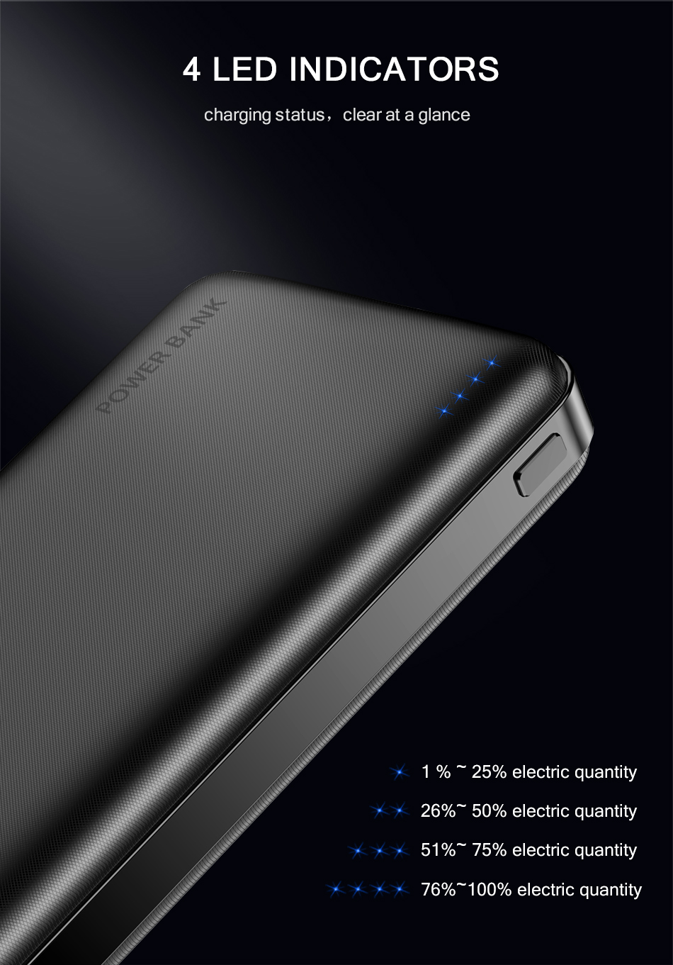 FLOVEME Portable Power Bank With 20000mAh External Battery For iPhone 10
