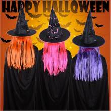 Vieruodis Halloween Decoratie Hoed Party Maskerade Props Pruik Heks Hoed Viering Ghost Festival Cosplay Pasen Leveringen(China)