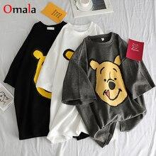 Лето, повседневные женские футболки Ulzzang, уличная одежда kawaii, мультяшный принт, футболка в Корейском стиле, Топы Harajuku, футболка с коротким рукавом