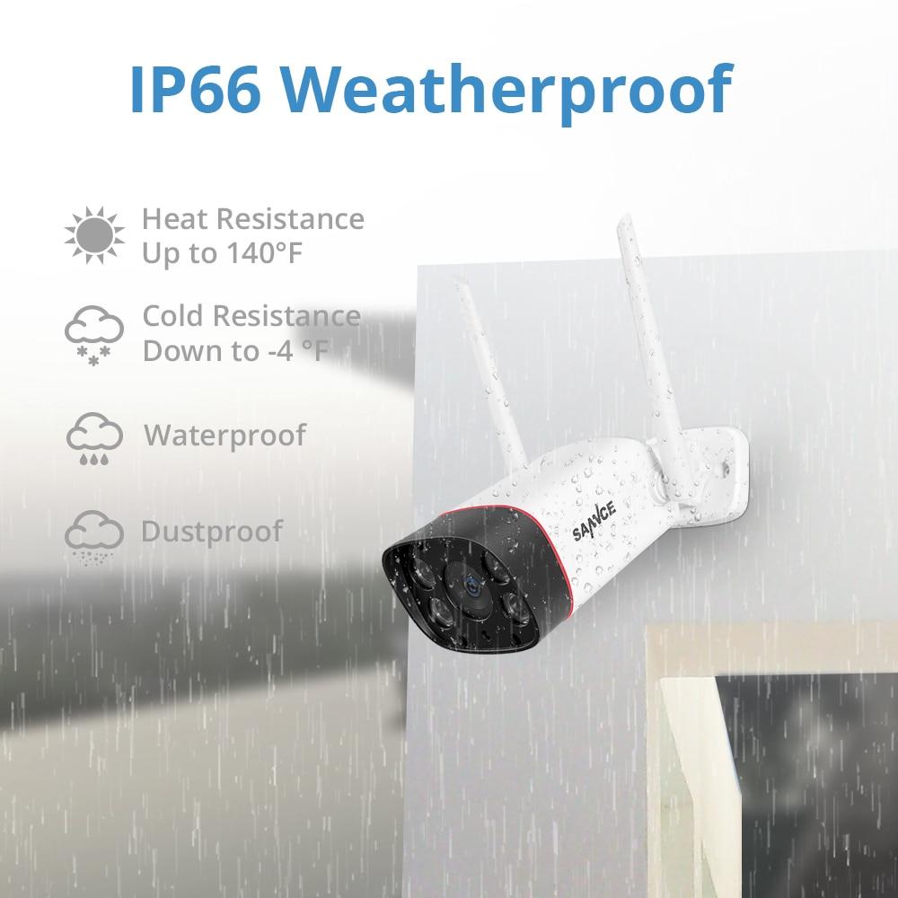 SANNCE HD 1080P WiFi IP Camera Wireless Waterproof Night Vision Surveillance Bullet Camara Outdoor IR Cut Home Security Camara
