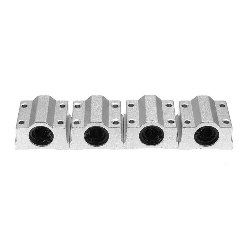 4pcs Aluminum SCS8UU 8mm Linear Motion Ball Bearing Slide Bushing For Home Appliances Industrial 34x30x22cm