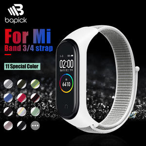 BAPICK Sport-Wrist-Strap Mi-Band Smart-Watch Xiaomi Nylon for 4 Bracelet 3-Pulseira