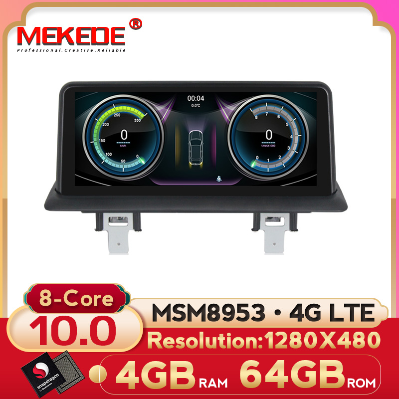 MEKEDE 1280X480 10.25'' Android 10 Car GPS Navigation Radio player for BMW 1 Series 120i E81 E82 E87 E88 4G RAM 64G ROM 8 core image