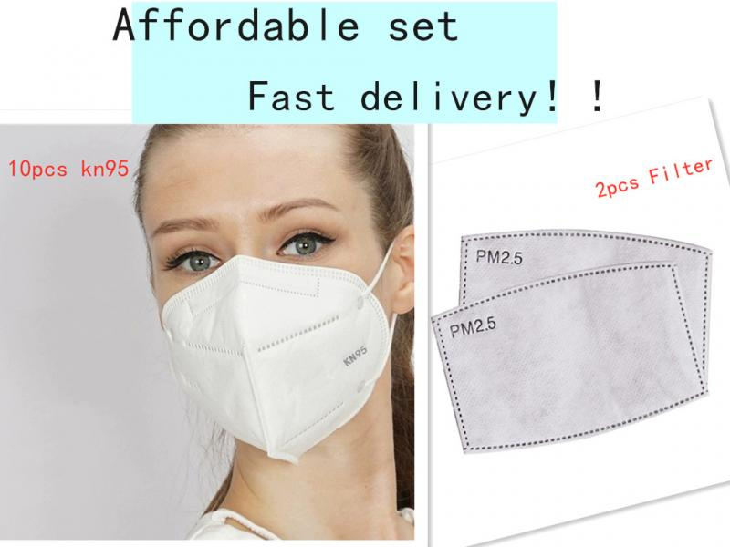10 Pcs N95 Mouth Mask With 2 Pcs Mask Filter Sets KN95 Masks Favourable Set Safety Protective Mask Bacteria Proof Anti Infection