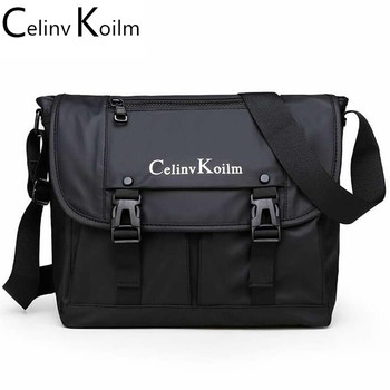 Celinv Koilm Man Messenger Bag Waterproof Fashion Business Crossbody Shoulder Bags For Men High Quality Nylon Travel Bag New candy color waterproof nylon messenger bag solid contracted joker shoulder bag high quality pink crossbody bag hobos for women