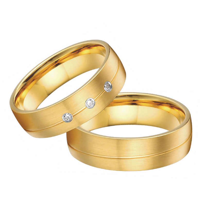 Lovers Alliance Gold Color Couple Wedding Rings Set For Men And Women Jewelry Ring Marriage Wedding Band Set Wedding Band Set Ring Weddingwedding Band Aliexpress