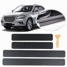Autocollants universels en Fiber de carbone 4 pièces/ensemble 3D, pour pédales de voiture, anti-rayures