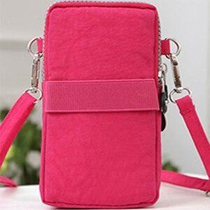 Image 2 - mobile phone bag 6 inch womens messenger bag zipper print bag fashion shoulder bag