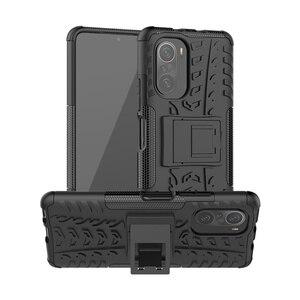 Image 3 - For Cover Xiaomi Poco F3 Case For Poco F3 Capas Armor Holder Stand Bumper Shockproof Heavy Hard Cover For Poco F3 X3 Pro Fundas