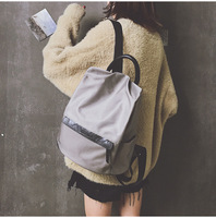 Ougger Small Travel Backpack Gray Nylon Leisure Style Ladies Bags for Business trip