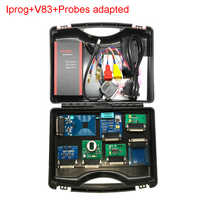 Newest V83 V82 Iprog+ Pro with Probe Adapters For in-circuit ECU Programmer & Mileage Correction + Airbag Reset +IMMO+EEPROM