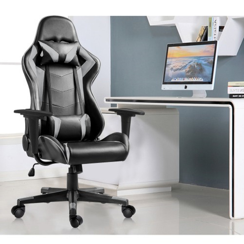 Gaming Chair High-Back Ergonomic Height Adjustment Office Chair Executive Support Desk Chair Seat Support Headrest and Lumbar